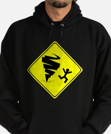 Tornado Caution Sign Hoodie
