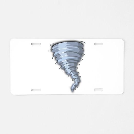 Cartoon Tornado Aluminum License Plate
