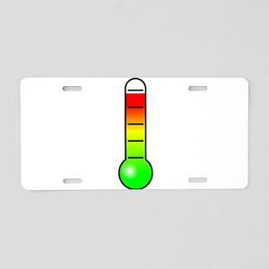 Cartoon Thermometer Aluminum License Plate