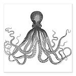 Vintage octopus Square Car Magnet 3