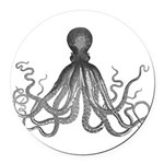 Vintage octopus Round Car Magnet