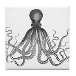 Vintage octopus Tile Coaster