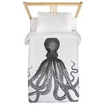 Vintage octopus Twin Duvet