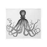 Vintage octopus Throw Blanket