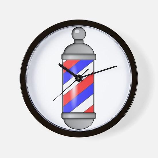 Barber Shop Pole Wall Clock
