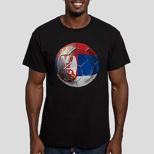 Serbian Football Men's Fitted T-Shirt (dark)