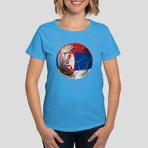 Serbian Football Women's Dark T-Shirt