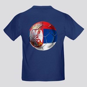 Serbian Football Kids Dark T-Shirt