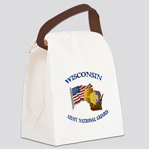 Army National Guard - WISCONSIN w Flag Canvas Lunc