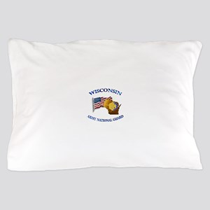 Army National Guard - WISCONSIN w Flag Pillow Case