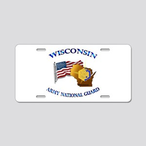 Army National Guard - WISCONSIN w Flag Aluminum Li
