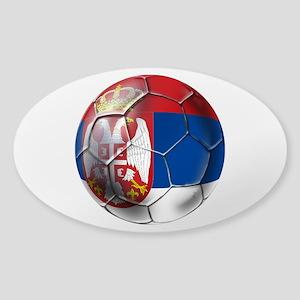 Serbian Football Sticker (Oval)
