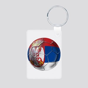 Serbian Football Aluminum Photo Keychain