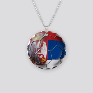 Serbian Football Necklace Circle Charm