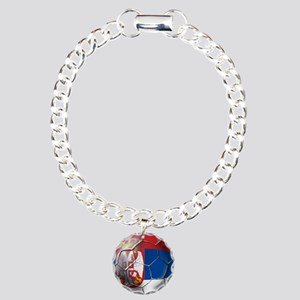 Serbian Football Charm Bracelet, One Charm