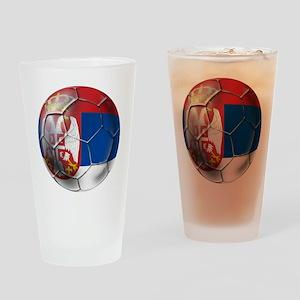 Serbian Football Drinking Glass