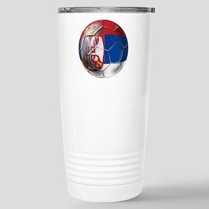 Serbian Football Stainless Steel Travel Mug