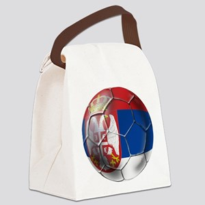 Serbian Football Canvas Lunch Bag