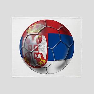 Serbian Football Throw Blanket