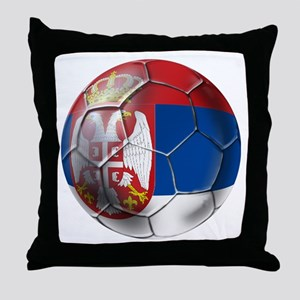 Serbian Football Throw Pillow