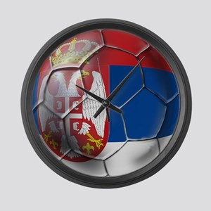 Serbian Football Large Wall Clock
