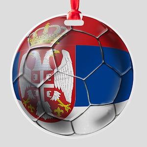 Serbian Football Round Ornament