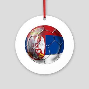 Serbian Football Ornament (Round)