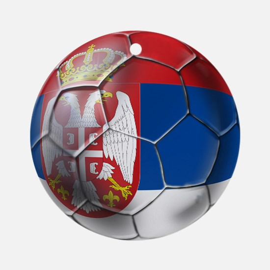 Serbian Football Ornament (Round)