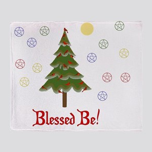 Blessed Be Solstice Tree Throw Blanket