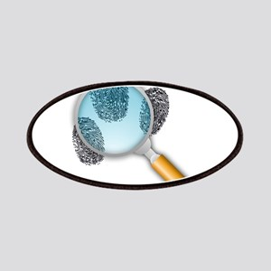 Fingerprints Under Magnifying Glass Patches
