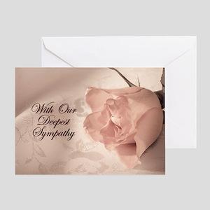 Yur sympathy, Pink rose sympathy card Greeting Car
