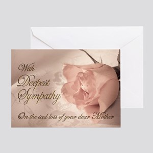 Mother, Pink rose sympathy card Greeting Card