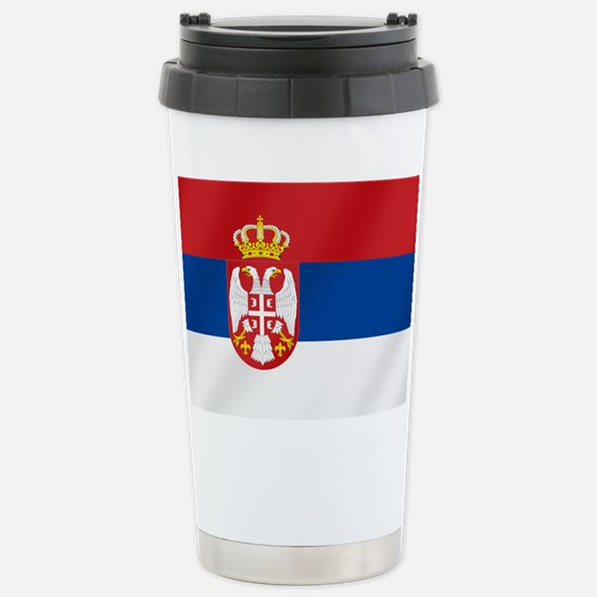 Flag of Serbia Travel Mug