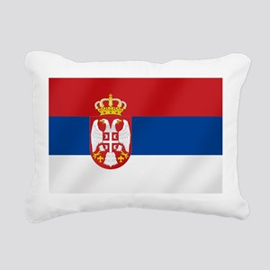 Flag of Serbia Rectangular Canvas Pillow