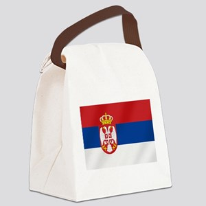 Flag of Serbia Canvas Lunch Bag