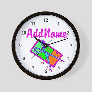 #1 HAIR STYLIST Wall Clock