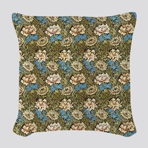 Morris Chrysanthemums with Repeats Woven Throw Pil