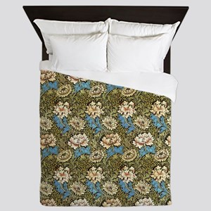 Morris Chrysanthemums with Repeats Queen Duvet