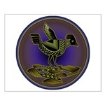 Mimbres Olive Quail Small Poster