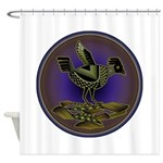 Mimbres Olive Quail Shower Curtain