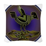 Mimbres Olive Quail Woven Throw Pillow