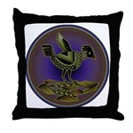 Mimbres Olive Quail Throw Pillow