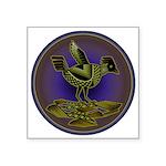 Mimbres Olive Quail Square Sticker 3