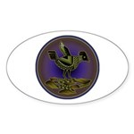 Mimbres Olive Quail Sticker (Oval 10 pk)