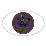 Mimbres Olive Quail Sticker (Oval 50 pk)