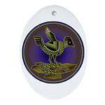 Mimbres Olive Quail Ornament (Oval)