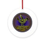 Mimbres Olive Quail Ornament (Round)