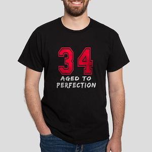 34 year birthday designs Dark T-Shirt