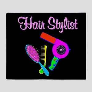 TRENDY HAIR STYLIST Throw Blanket
