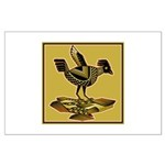 Mimbres Quail Ochre Large Poster
